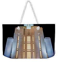 Oquirrh Mountain Temple 1 Weekender Tote Bag by Chad Dutson