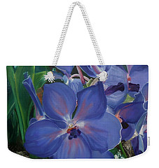 Orchids Weekender Tote Bag by Donna Tuten