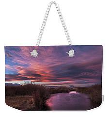Owens River Sunset Weekender Tote Bag