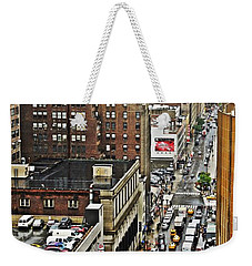 Weekender Tote Bag featuring the photograph Park N Lock by Lilliana Mendez