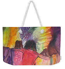 Weekender Tote Bag featuring the painting Passage by Diana Bursztein