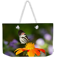 Piano Key Butterfly Weekender Tote Bag