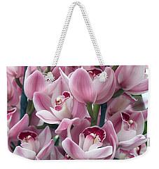 Pink Orchids Weekender Tote Bag