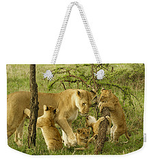 Playing With Mom Weekender Tote Bag
