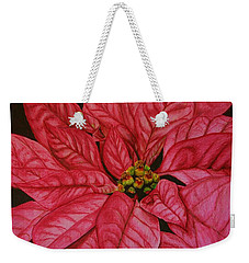 Poinsettia Weekender Tote Bag by Marna Edwards Flavell