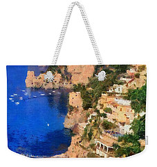 Positano Town In Italy Weekender Tote Bag