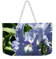 Purple Bearded Iris Weekender Tote Bag