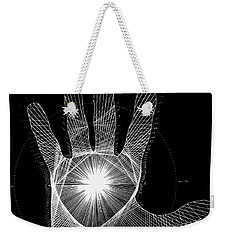 Quantum Hand Through My Eyes Weekender Tote Bag by Jason Padgett