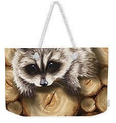 Raccoon Weekender Tote Bag by Veronica Minozzi