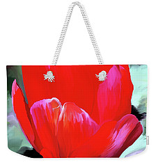 Weekender Tote Bag featuring the photograph Red Hot by Patricia Griffin Brett