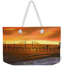 Redondo Beach Pier At Sunset Weekender Tote Bag