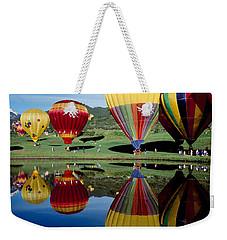 Reflection Of Hot Air Balloons Weekender Tote Bag