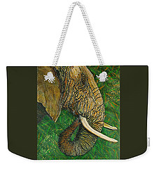 Weekender Tote Bag featuring the painting Respect by Debbie Chamberlin