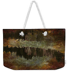 Weekender Tote Bag featuring the photograph Riverbank by Kathy Bassett