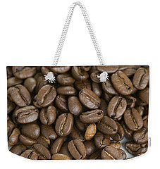 Weekender Tote Bag featuring the photograph Roasted Coffee Beans by Lee Avison