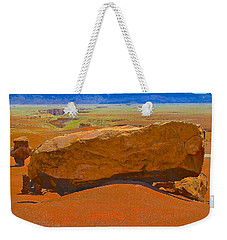 Rock Orange Weekender Tote Bag