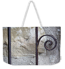 Weekender Tote Bag featuring the photograph San Jose Gate Detail by Mary Bedy