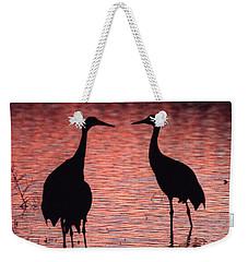 Sandhill Cranes Weekender Tote Bag by Steven Ralser