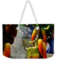 Weekender Tote Bag featuring the photograph Sausage And Peppers by Lilliana Mendez