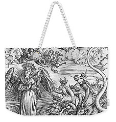 Scene From The Apocalypse Weekender Tote Bag by Albrecht Durer or Duerer