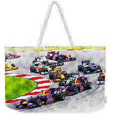 Sebastian Vettel Leads The Pack Weekender Tote Bag