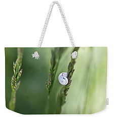Snail On Grass Weekender Tote Bag