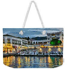 Spetses Town During Dusk Time Weekender Tote Bag