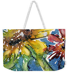 Sunflower Weekender Tote Bag by Judith Levins