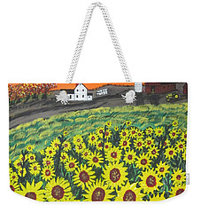 Sunflower Valley Farm Weekender Tote Bag