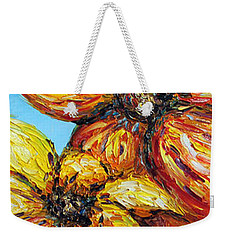 Weekender Tote Bag featuring the painting Sunrise by Meaghan Troup