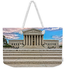 Weekender Tote Bag featuring the photograph Supreme Court by Peter Lakomy