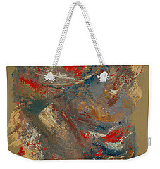 Weekender Tote Bag featuring the painting Syncopation 2 by Mini Arora