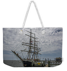 Weekender Tote Bag featuring the photograph Tall Ship Gunilla by Dale Powell