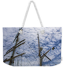 Tall Ship Mast Weekender Tote Bag by Dale Powell