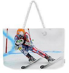 Ted Ligety Skiing  Weekender Tote Bag