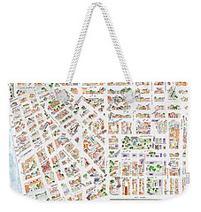 The Greenwich Village Map Weekender Tote Bag by AFineLyne