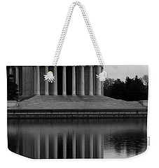 Weekender Tote Bag featuring the photograph The Jefferson Memorial by Cora Wandel