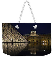 The Louvre Palace And The Pyramid At Night Weekender Tote Bag
