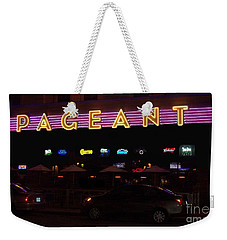 Weekender Tote Bag featuring the photograph The Pageant Edited by Kelly Awad