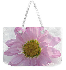 Weekender Tote Bag featuring the photograph The Whisper Of A Snow Blossom by Angela Davies