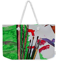 Weekender Tote Bag featuring the painting The Young Artists Canvas by Jennifer Muller