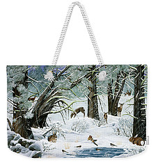 They Said It Wouldn't Snow Weekender Tote Bag