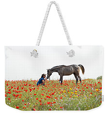 Three At The Poppies' Field... 4 Weekender Tote Bag