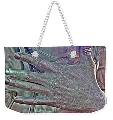 Weekender Tote Bag featuring the photograph Tin Man Hand by Lilliana Mendez