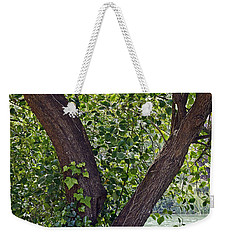 Weekender Tote Bag featuring the photograph Tree At Stow Lake by Kate Brown