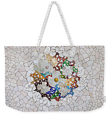 Trencadis Mosaic In Park Guell In Barcelona Weekender Tote Bag