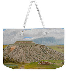 Tucumcari Mountain Reflections On Route 66 Weekender Tote Bag by Sheri Keith