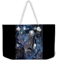 Weekender Tote Bag featuring the mixed media Universal Feminine by Leanne Seymour