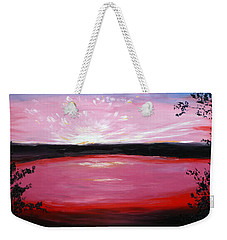 Weekender Tote Bag featuring the painting Vanquished by Meaghan Troup