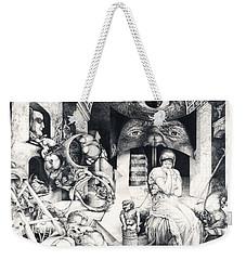 Vindobona Altarpiece IIi - Snakes And Ladders Weekender Tote Bag